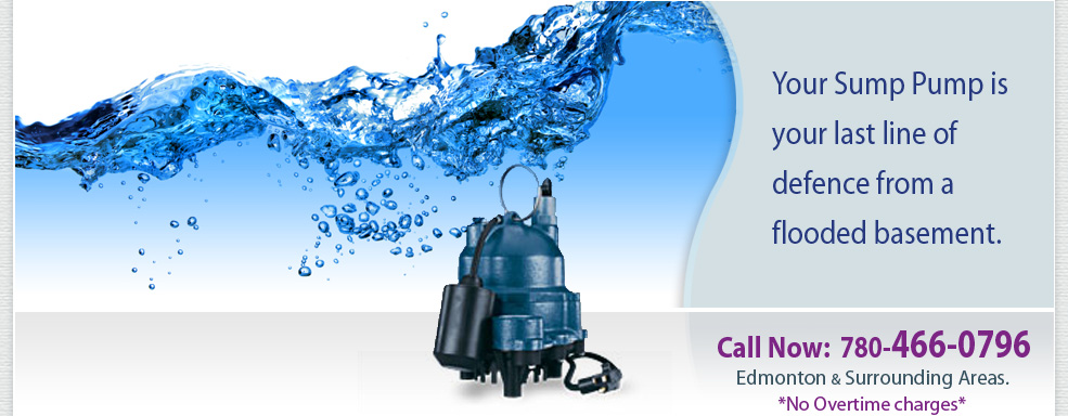 Edmonton and surrounding area sump pump repair, service and installation